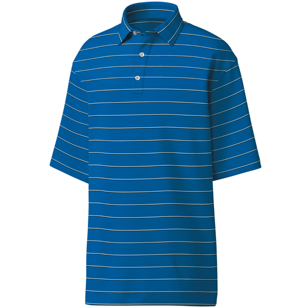 FootJoy ProDry Performance Spun Poly Stripe - Self Collar Polo