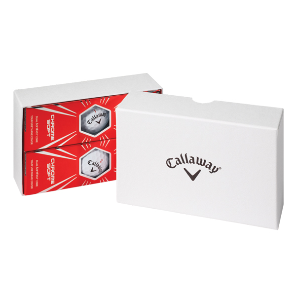 Callaway 6-Ball Box in White