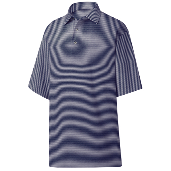 FootJoy ProDry Performance Heather Pinstripe Lisle - Self Collar Polo