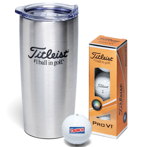 Titleist 3-Ball Stainless Steel Travel Mug