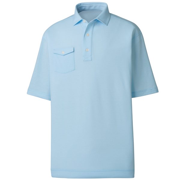 FootJoy Performance Spun Poly, Chest Pocket - Self Collar Polo - Athletic Fit