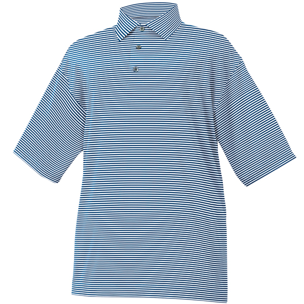 FootJoy ProDry Performance Lisle Feeder Stripe Shirt - Self Collar