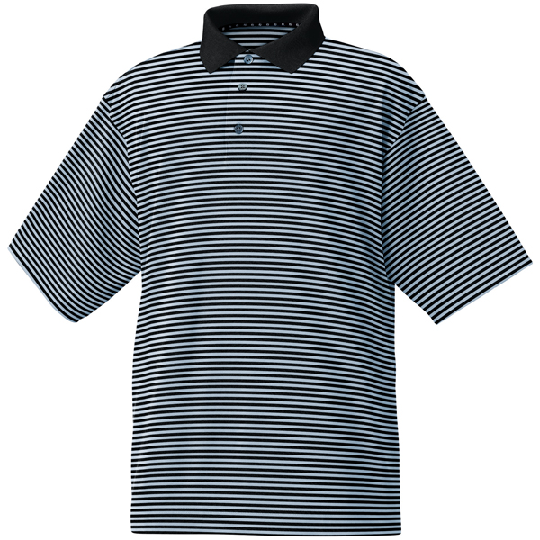 FootJoy ProDry Performance Lisle Feeder Stripe Shirt - Knit Collar