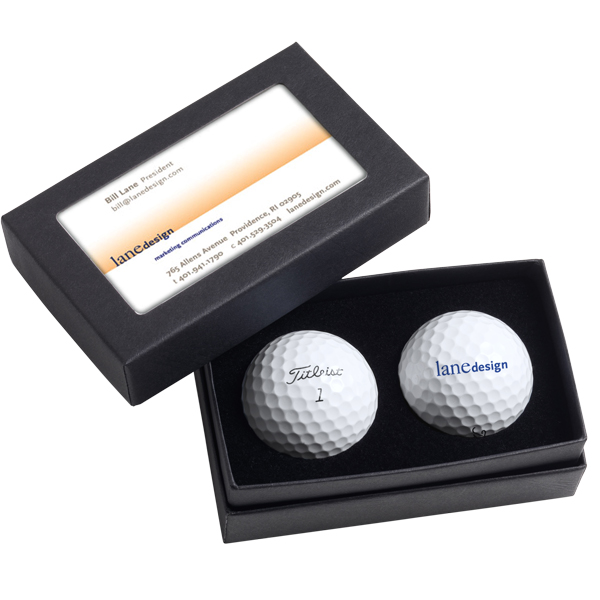 Titleist Standard 2 Ball Business Card Box